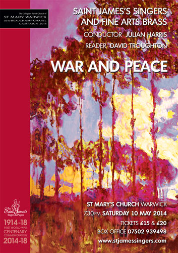 War and Peace – May 10, 2014