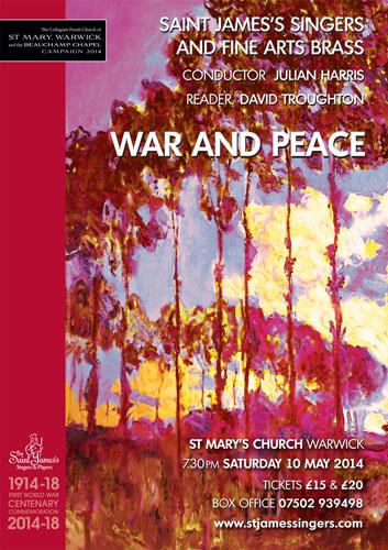War and Peace – May 10, 2014
