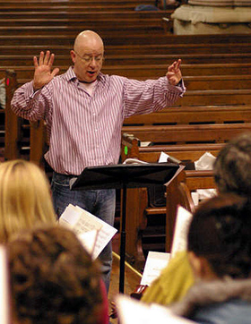 Conductor - Julian Harris at rehearsals