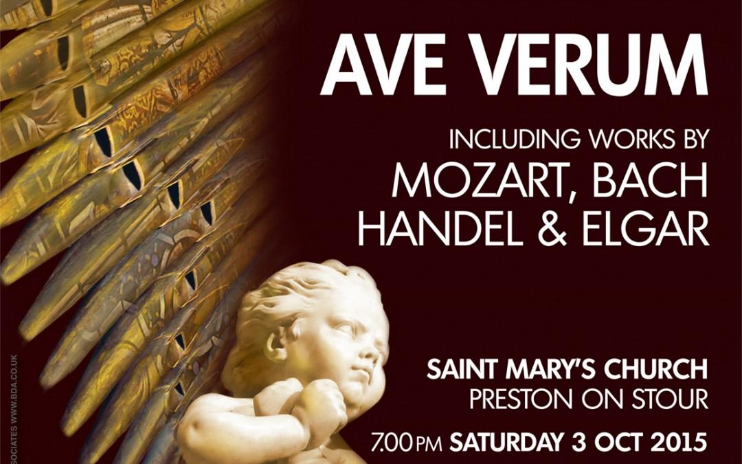 Ave Verum – 3 October 2015 – Preston on Stour