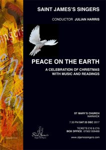 Peace On The Earth Christmas Concert Saturday 23 December 2017