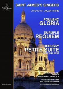 Duruflé, Poulenc and Debussy – April 2019