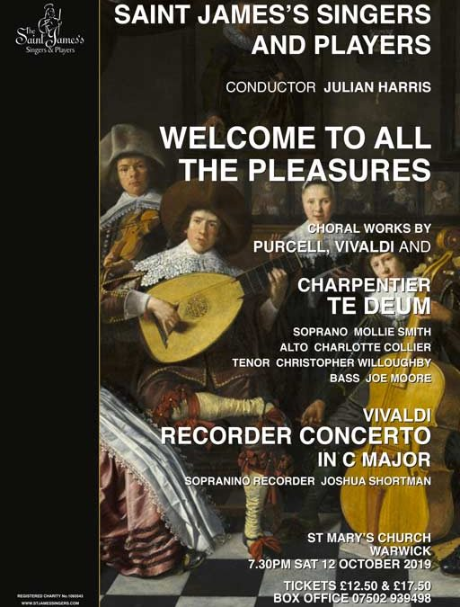 Welcome to all the Pleasures 12 October 2019